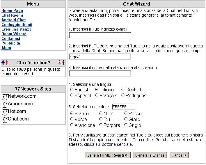 Chat Amore Senza Registrazione Java